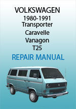 Volkswagen T25 Transporter, 1980-1991 Workshop Repair Manual